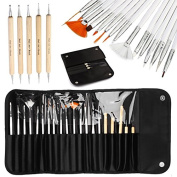 AllRight 20 Pcs Brushes Nail Art Dotting Pen