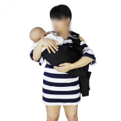 PsmGoods Baby Carrier Ring Baby Sling Wrap Black