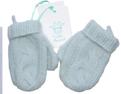 Baby Boys Blue 100% Cashmere Mittens Size S
