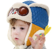 Butterme New Arrival Baby Boys Girls Winter Warm Cap Earflap Beanie Pilot Aviator Hat Lined with Villi