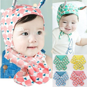 HHM BABY-Children 4 colour printed scarves baby bib triangular scarves warm stylish decor , blue