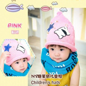 HHM BABY-Korean version of the fall and winter boys and girls children tide cap NY Luxury pearl candy baby warm hat knitted hat wool , yellow