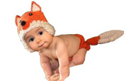 DAYAN Infant Baby Photography costume sweet fox hat Handmade Crochet Nappy