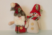 Santa & Snowman Festive Chums 2 assortd Hanging Tree Decoation - New for 2015