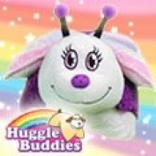 46cm Huggle Buddies Pink Butterfly - The Soft Toy Butterfly and Super Soft Pillow All In One