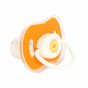 Lusee® 2x Baby Soothie Pacifier Soother Orange