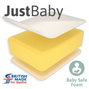 Little Mattress Company® - JustBaby Lite Cot Bed Mattress - 120cm x 60cm x 7cm - Including FREE Luxurious Soft Poly-Cotton Cover