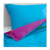 STICKAT - Quilt Cover And Pillowcase, Turquoise, Lilac