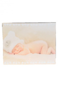 """Baby Canvas Print, Baby with Bear Hat, 48cm(19"""") x 38cm"""