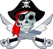 Stickersnews Wall Stickers for Child's Room Pirate Height 30 cm Ref 3536