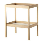SNIGLAR - Changing Table, Beech, White