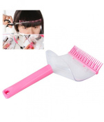 IMBS DIY Hair Bangs Fringe Cut Comb Clip Home Fashion Portable Trimmer Hairpin Grip Easy Hairdressing Layer Cutting Accessories -Random Colour
