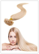 Sexyqueenhair 100g 100 STRANDS Pre Bonded Nail U Tip 100 % Remy Human Straight Hair Extensions #613 60cm