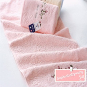 CareforYou® 100% Cotton First Class Product Flower Pattern Bathroom Towels Bath Face Towel Cosmetics Towel Washcloths Sport Towel 74cm×33 cm 1PC