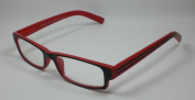 Reading glasses for him & AMP; it 2.5 Diop. reading Black / Red M4 Flexbügel devices