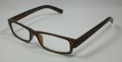 Reading glasses for him & AMP; it 3.5 Diop. reading Spring Clip Design 5 Brown