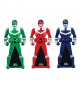 Power Rangers Super Megaforce - Time Force Legendary Ranger Key Pack, Red/Blue/Green