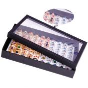 KE 100 Slots Ring Earrings Storage Clear Display Box Jewellery Organiser Holder Case 30*18cm