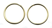 Arranview Jewellery Child's 9ct Gold 10mm Plain Sleeper Hoops