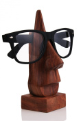 Christmas Gifts Quirky Handmade Nose Shaped Wooden Decorative Spectacle / Reading Glass Holder / Stand