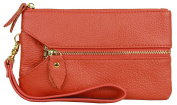 HCUK Ladies Levvy Designer Zip Down Authentic Leather Purse Wallet