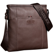 ONEWORLD High Quality Men's Real Leather Genuine Cowhide Handbag Top Open Messenger One Shoulder Cross Body Handbag