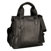 ONEWORLD High Quality Men's Genuine Cattle Real Leather Made Tote Handbag Casual One Shoulder Cross Body Messenger Bag