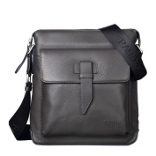 ONEWORLD High Quality New Style Men Leather Bags Casual Shoulder Messenger Bags Large Capacity Multifunction Grey