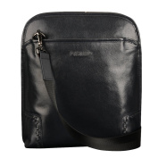 ONEWORLD High Quality Men's Fashion Real Cattle Hide Made Casual Cross Body Clutch Handbag One-Shoulder Out Door