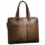 ONEWORLD New England Style Business Multifunction Genuine Cowhide Briefcases Fashion Full Grain Leather Handbags Khaki
