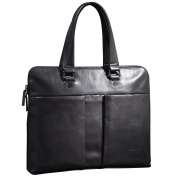 ONEWORLD New England Style Business Multifunction Genuine Cowhide Briefcases Fashion Full Grain Leather Handbags Grey