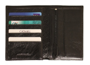 Cadwell - Men Wallet 3 flaps - Vintage leather - Black