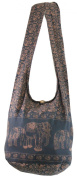 NaLuck Vintage Elephant Hippie Boho Hobo Sling Cross body Shoulder Messenger Bag
