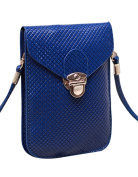 Peiji Bright Surface PU Leather Mini Crossbody Single Shoulder Bag Square Embossed Cellphone Pouch