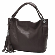 Win8Fong Women's PU Faux Leather Hobo Messenger Crossbody Shoulder Totes Tassels Handbag