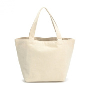 Oath_song 100% Natural Cotton DIY Painting Eco-friendly Canvas Tote Bag Small Size