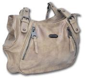 Jennifer Jones Ladies Handbag Tote Shoulder Bag high-quality synthetic leather Grey/Brown