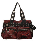 Banned Black and Red Handcuff Rock Goth Punk Handbag
