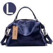TOP-BAG Lovely Women Ladies' Genuine Leather Tote Satchel Shoulder Handbag, SF1006