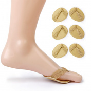 3 Pairs of Anti-slip Metatarsal Pads Pain Relief Ball of Foot Cushions Forefoot Protectors---Y-Shaped Strap
