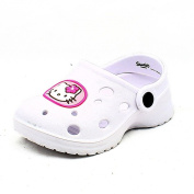 Childrens rubber clog style beach shoes / sandals with Hello Kitty to front