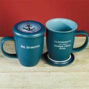 Be Strong Mug and Coaster Set