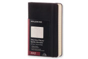 Moleskine 2017 Daily Planner, 12m, Pocket, Black, Hard Cover