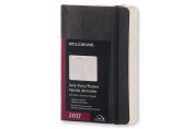 Moleskine 2017 Daily Planner, 12m, Pocket, Black, Soft Cover