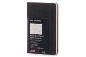 Moleskine 2017 Weekly Planner, Horizontal, 12m, Pocket, Black, Hard Cover