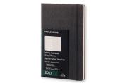 Moleskine 2017 Weekly Notebook, 12m, Large, Black, Hard Cover