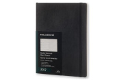 Moleskine Weekly Notebook, 12m, Extra Large, Black, Soft Cover