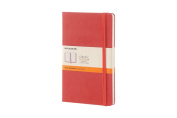 Moleskine Classic Notebook, Large, Ruled, Coral Orange, Hard Cover