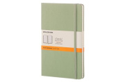 Moleskine Classic Notebook, Large, Ruled, Willow Green, Hard Cover