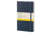 Moleskine Classic Notebook, Large, Squared, Sapphire Blue, Hard Cover